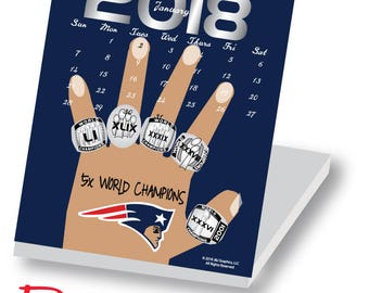 2018 Boston Sports Jewel Case Calendar