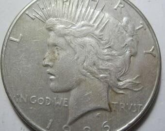 1926 S silver Peace dollar grades AU (#E108N)