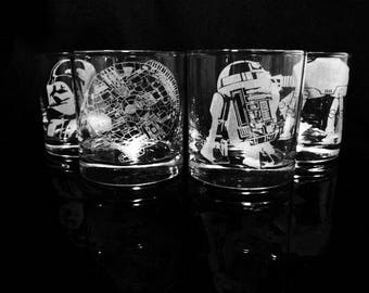 Star Wars Rock Glasses - Choice of 1