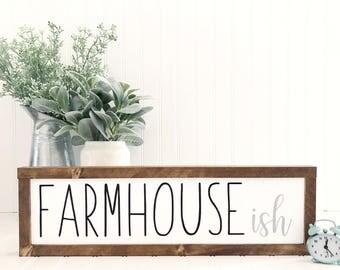 Farmhouse-ish, Farmhouseish, Kitchen Decor, Pantry Decor, Farmhouse Signs