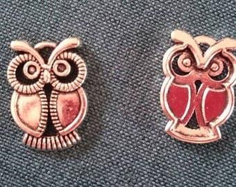 1 x charm / silver metal OWL pendant