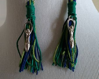 Pretty Pagan Goddess Tassel Earrings