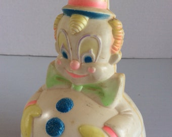 Vintage 1977 Sanitoy Roly Poly Musical Clown.Chimes,Childhood Memories,Nursery