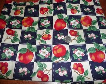 VIP Cranston Apple Fruit Cotton Fabric Print