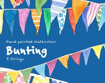 Water Colour Bunting Clip Art