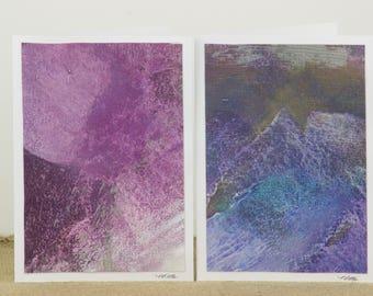 Hand-Painted Abstract Art Card, Acrylic Art Card, Original Art Card, All Occasion Card, Nancy Little Art, Abstract Art, Canvas Painting Card