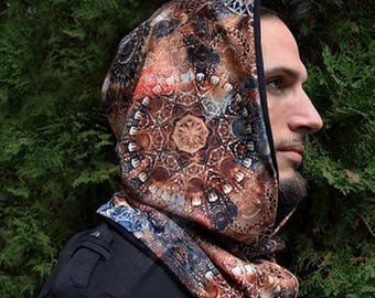 Brown Fractal Reversible Hood