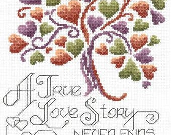 Completed cross stitch wedding sampler, wedding gift, anniversary cross stitch