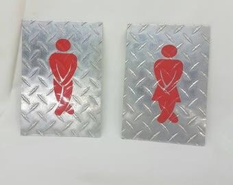 Custom order Rikki Bathroom restroom sign