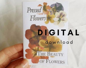 Art Zine // Pressed Flowers: The Beauty of Flowers Zine // Vintage Collage Art Journal Zine // DIGITAL DOWNLOAD