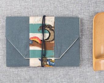 Organic Cotton - Kindle Paperwhite case, Kinddle Fire HD 8.9'' Nook HD Plus- Padded Cover - Nexus 10 - Unique Handmade wood Button