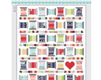 "Spools 2 Quilt Kit with Pattern by Camille Roskelley of Thimble Blossoms -213 Finished Quilt Size- 67"" x 78"""