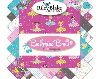 Fat Quarter Bundle Ballerina and Bows by Riley Blake Designs- 15 Fabrics