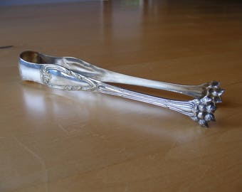 Vintage Silver plated sugar tongs stamped BN