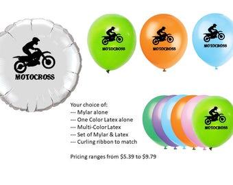 Motocross Balloons