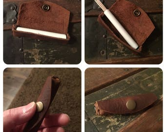 Leather Toothpick Holder