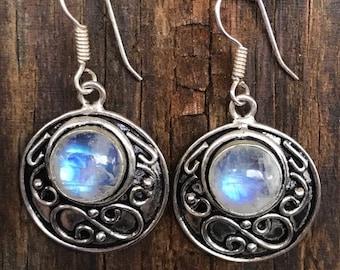 MOONSTONE -Sterling Silver Earrings