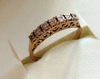 9ct Gold Ring White Gold Ring Gold Heart Ring Gold Diamond Ring Gold Hallmarked 375 Gold Ring Gold Love Heart