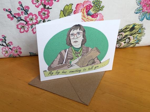 Twin Peaks Log Lady Greeting CardTwin Peaks Log Lady Birthday – Lady Birthday Cards