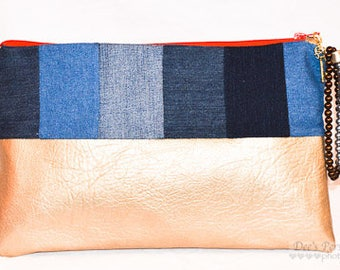 Multi-Blu Goldie Clutch