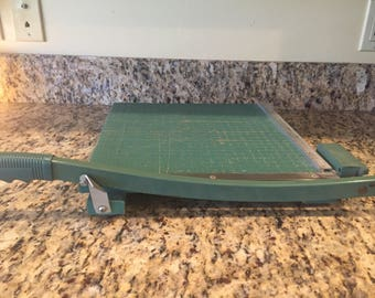 "Premier paper cutter-13"" Very Sharpe vintage-cast iron"