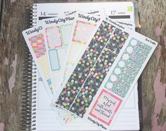 Sew Crafty - Complete weekly kit or a la carte sheets for a variety of planners