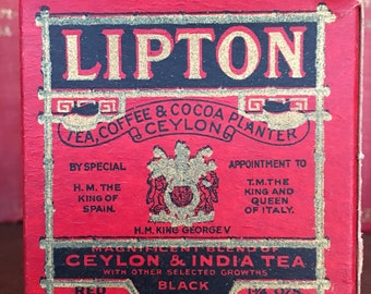 Lipton Tea Box c1915