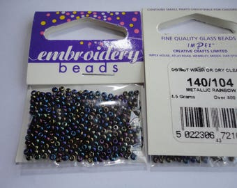 seed fine embroidery (104) 2mm metallic purple
