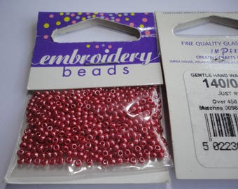 seed fine embroidery (041) 2mm Red