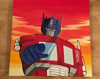 Optimus Prime oil painting from Transformers