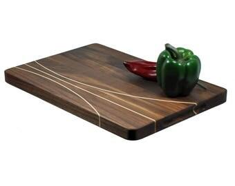 Cutting Board - Walnut with Maple Inlay