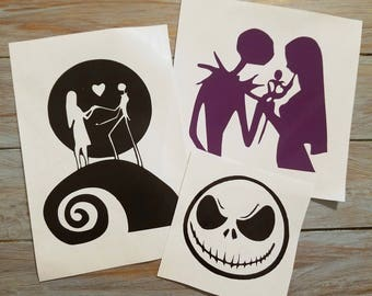 Nightmare before christmas wall decal | Etsy