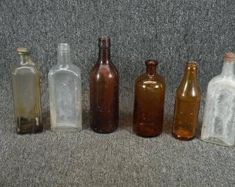 Vintage Medicine Bottle Lot. Set Of 6. Dodge. Rawleighs. J. R. Watkins. Certo.