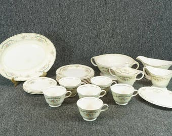 Edwin Knowles Princess Pattern Dining Ware Set 21 Pieces C. 1947