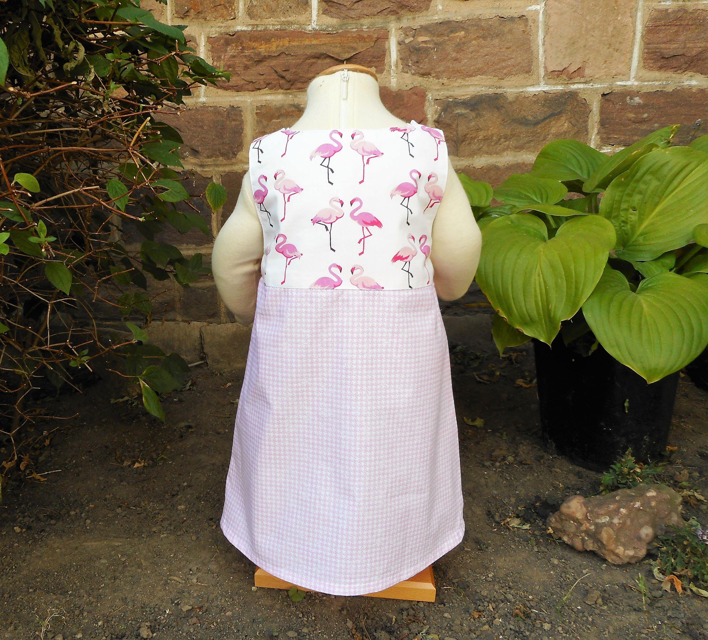 Pink Flamingos Baby Dress Animal Dress Baby Girl Trapeze Dress 12