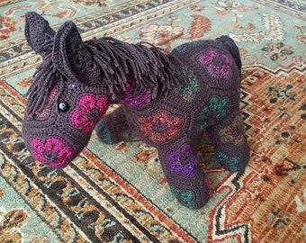 African Flower Donkey/Horse, Gray