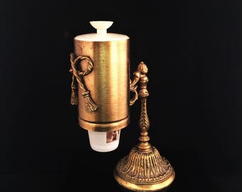 Vintage Dixie Cup Holder Stylebuilt Gold Filigree Dixie Cup Holder Ormolu Hollywood Regency Vanity Set Bathroom Cup Dispenser Rococo