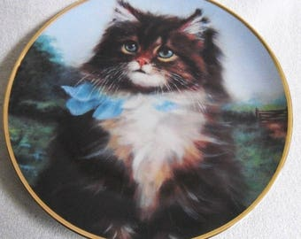 Beautiful collectible-Cats-Franklin Mint-far from home-Arias Lester-Vintage CAT/cats collector plate