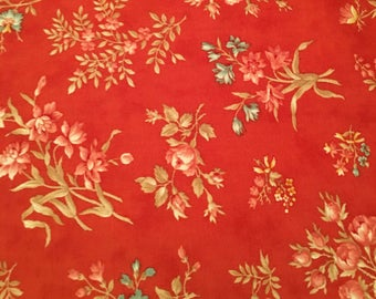 Printemps by 3 sisters floral 100% cotton quilt sewing moda Fabric bthy half 1/2 yard