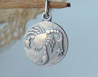 Sterling Silver Scorpio Zodiac Pendant, Scorpio Horoscope Charm, Astrological Scorpio, The Scorpio Zodiac Sign, Constellation Sign Charm 925