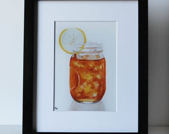 Sweet Tea Jar Art Print