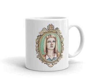 Margot Tenenbaum Coffee Mug, The Royal Tenenbaums Themed Tea Cup, Wes Anderson Ceramic Mugs, Gwenyth Paltrow Fan Art, Gift for Her, Movie