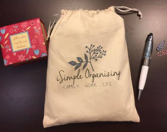 iSimple Grab&Go Notebook/ Planner Bag, Planner Pouch, Planner cover, accessory, planner storage bag, drawstring bag, cosmetic, travel pouch
