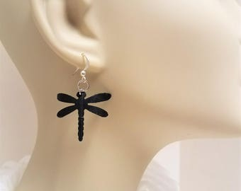 Up-cycled Inner Tube Dragonfly Earrings