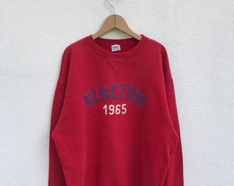 20% OFF Vintage United Colors Of Benetton Sweatshirt/Benetton Sweater/Benetton Spellout/Benetton Big Logo