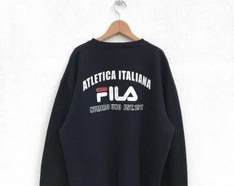 20% OFF Vintage Fila Sweatshirt,Fila Big Logo,Fila Italia,Fila Sweater,Fila Bj,Fila Tennis Shirt,Fila Italia,Fila Crewneck