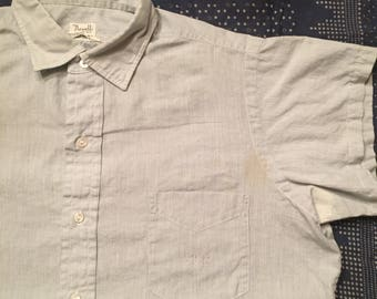 Vintage 1950s Custom Made Short Sleeved Button Up Mens Size Medium