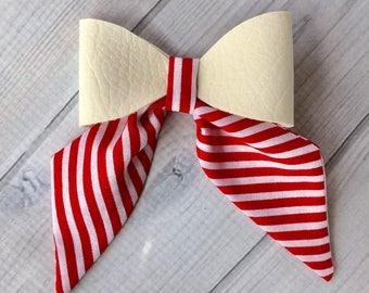 Candy Cane sailor bow