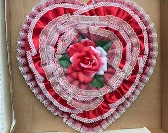 Rare Vintage Deran Valentine Candy Box~Vintage Chocolate Box,Vintage Valentine,Vintage Decor,Collectible Gift Box,Red Rose Box,Movie Prop