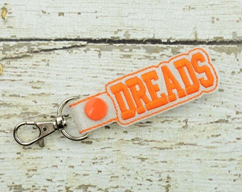 Dreads Keychain - Bag Tag - Small Gift - Gift for Her - Thank You Gift - Bag Accessory - Zipper Pull - Team Spirit